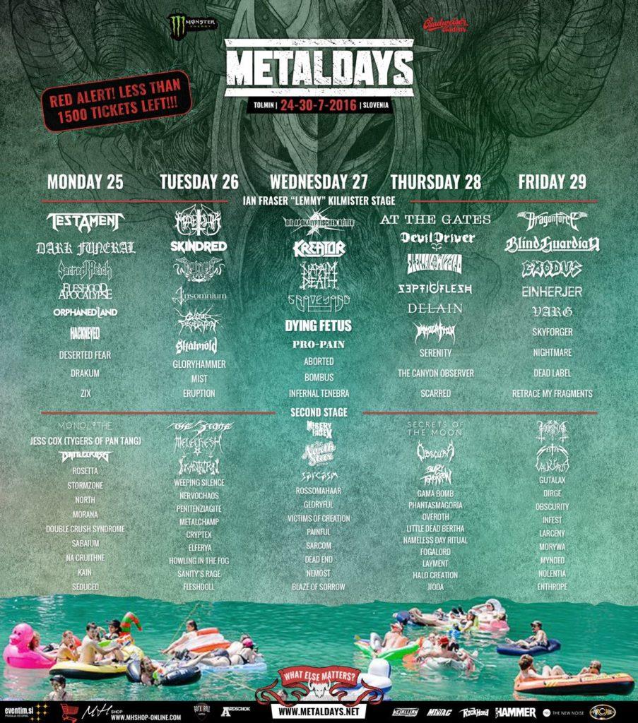 metal days line-up